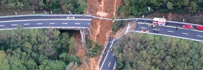 Maltempo, il Viadotto crollato sulla A6