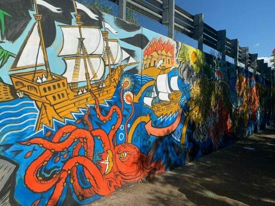 Lampedusa: inaugurato a Pontassieve un murale della memoria