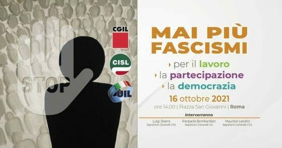 """In migliaia dalla Toscana domani a Roma per """"Mai più fascismi"""""""