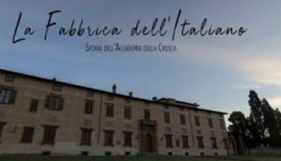 """""""La Fabbrica dell'Italiano"""", il film sull'Accademia della Crusca"""